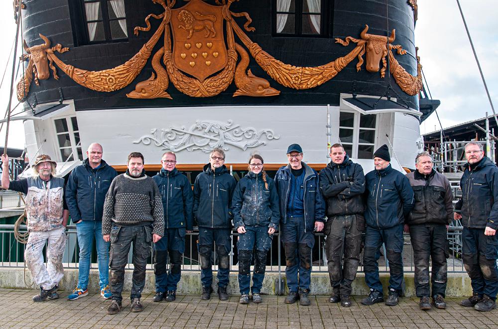 Fregatten Jyllands stok 2020